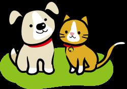 犬猫のイラスト